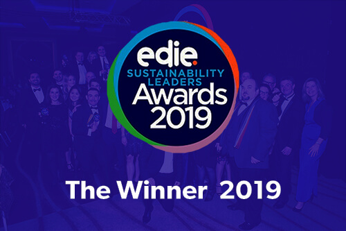 Edie Sustainability Leaders Winner 2019